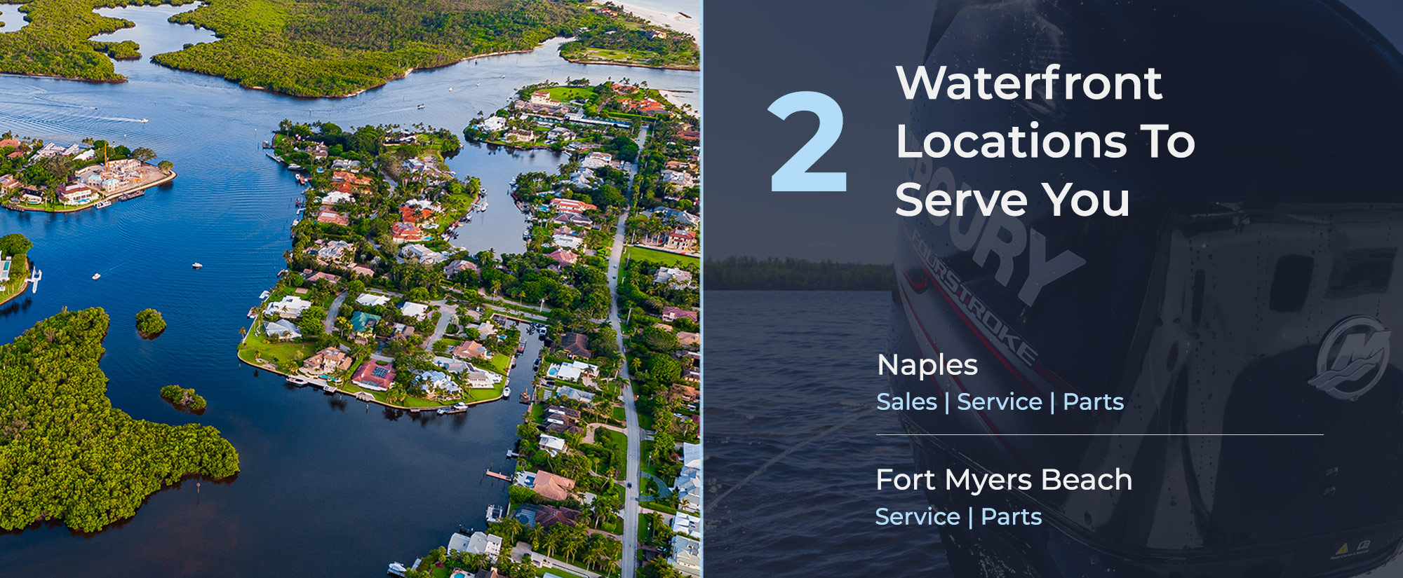 two locations to serve you better - fort myers beach and naples florida